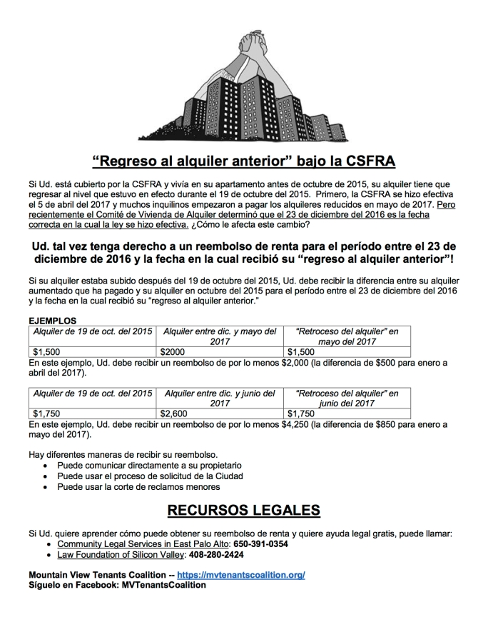 Rent Rollback Under the CSFRA - espanol